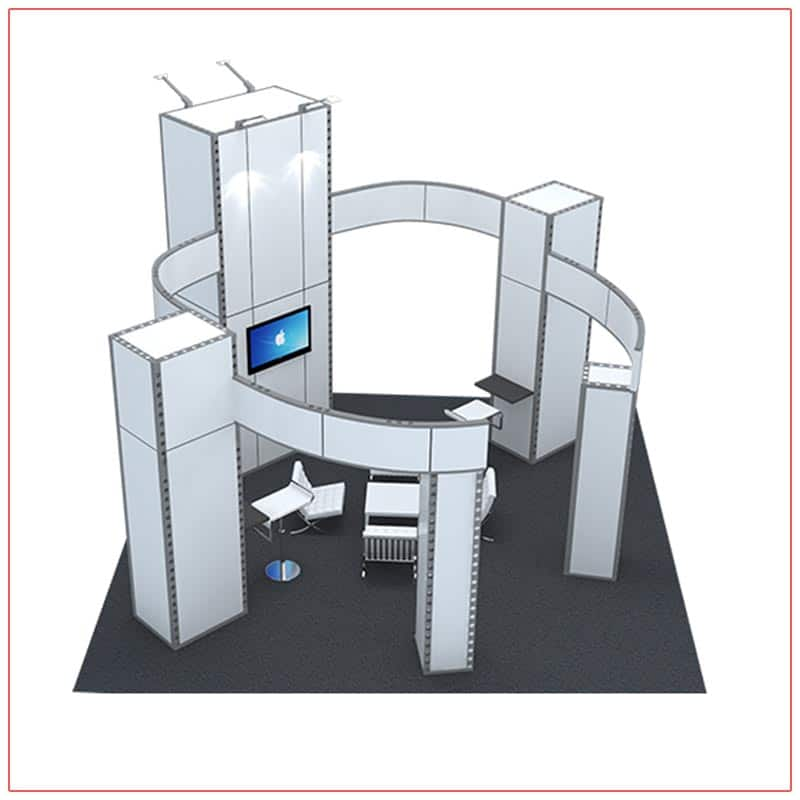 20x20 Trade Show Booth Rental Package 405 - Top-Down Angle View - LV Exhibit Rentals in Las Vegas