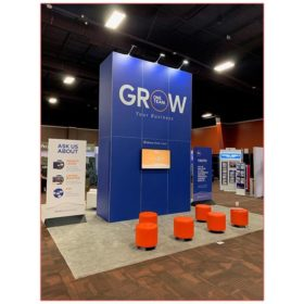 20x20 Trade Show Booth Rental Package 406A - Alterra - Rear View - LV Exhibit Rentals in Las Vegas