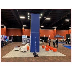 20x20 Trade Show Booth Rental Package 406A - Alterra - Side View - LV Exhibit Rentals in Las Vegas