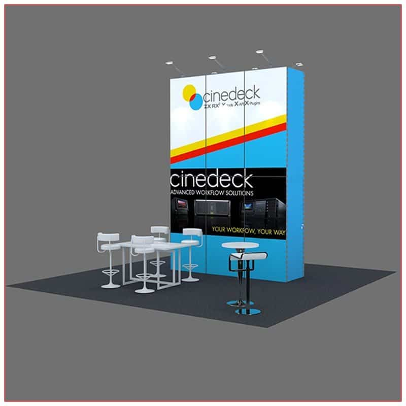 20x20 Trade Show Booth Rental Package 406 - LV Exhibit Rentals in Las Vegas