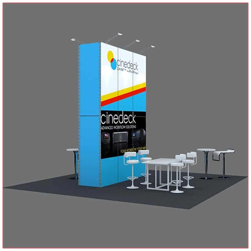 20x20 Trade Show Booth Rental Package 406 Side View - LV Exhibit Rentals in Las Vegas