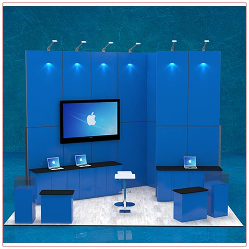 20x20 Trade Show Booth Rental Package 407 - Front View - LV Exhibit Rentals in Las Vegas