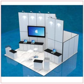 20x20 Trade Show Booth Rental Package 407 - LV Exhibit Rentals in Las Vegas