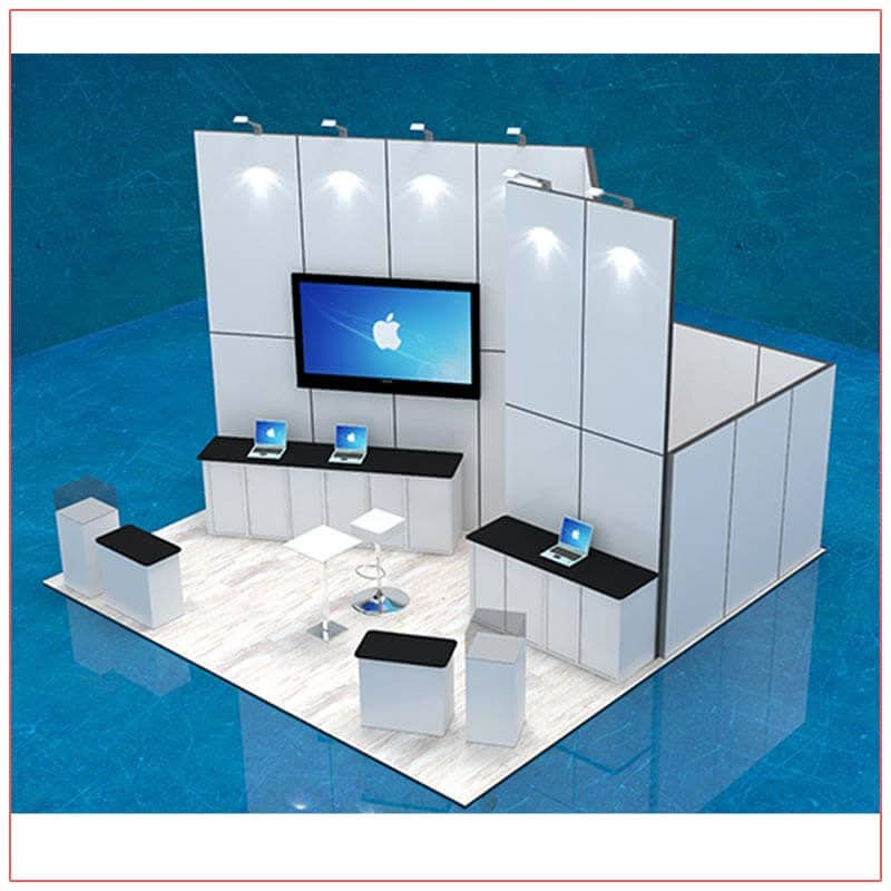 20x20 Trade Show Booth Rental Package 407 - LV Exhibit Rentals in Las Vegas