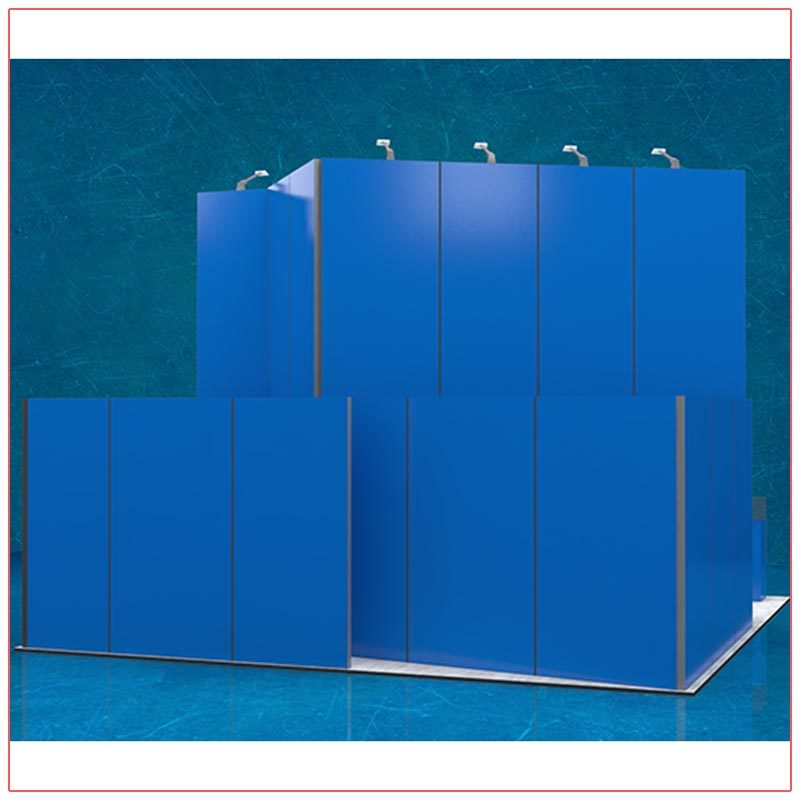 20x20 Trade Show Booth Rental Package 407 - Rear View - LV Exhibit Rentals in Las Vegas