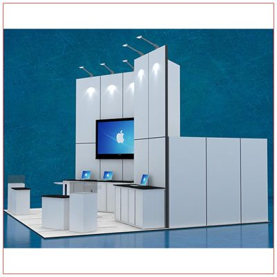 20x20 Trade Show Booth Rental Package 407 - Side View - LV Exhibit Rentals in Las Vegas