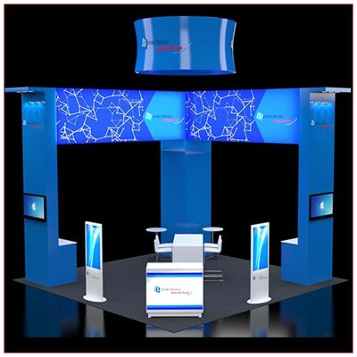 20x20 Trade Show Booth Rental Package 408 - Front View - LV Exhibit Rentals in Las Vegas