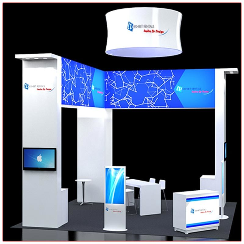20x20 Trade Show Booth Rental Package 408 - LV Exhibit Rentals in Las Vegas