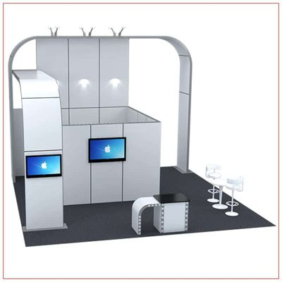 20x20 Trade Show Booth Rental Package 409 - LV Exhibit Rentals in Las Vegas
