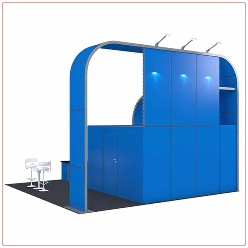 20x20 Trade Show Booth Rental Package 409 - Rear View - LV Exhibit Rentals in Las Vegas