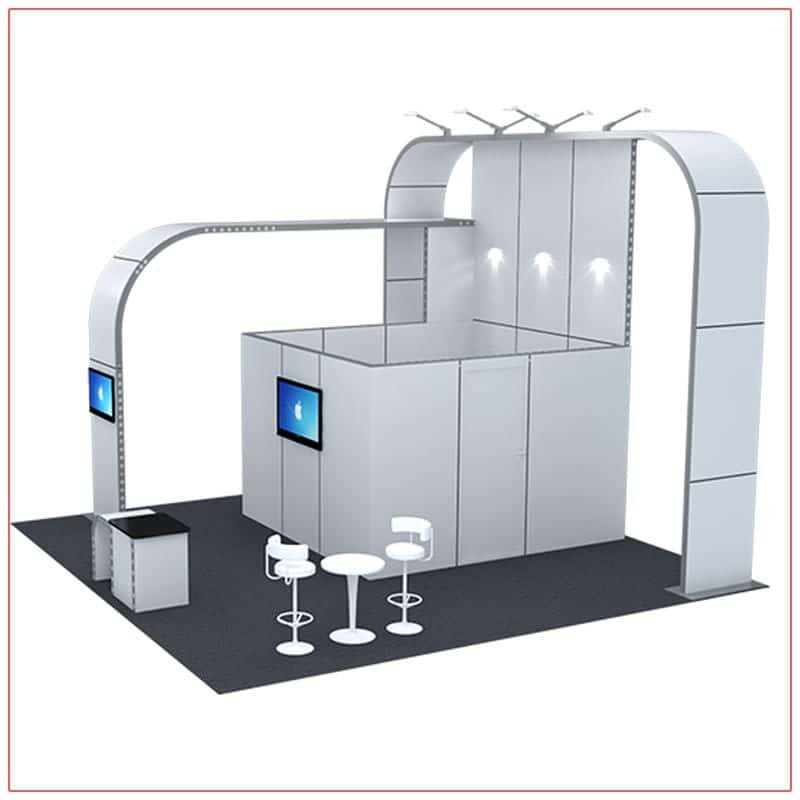 20x20 Trade Show Booth Rental Package 409 - Side View - LV Exhibit Rentals in Las Vegas