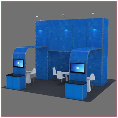 20x20 Trade Show Booth Rental Package 410 - LV Exhibit Rentals in Las Vegas