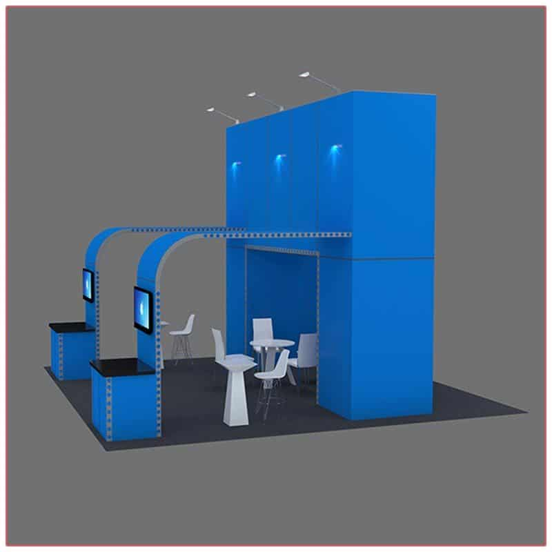 20x20 Trade Show Booth Rental Package 410 - Side View - LV Exhibit Rentals in Las Vegas