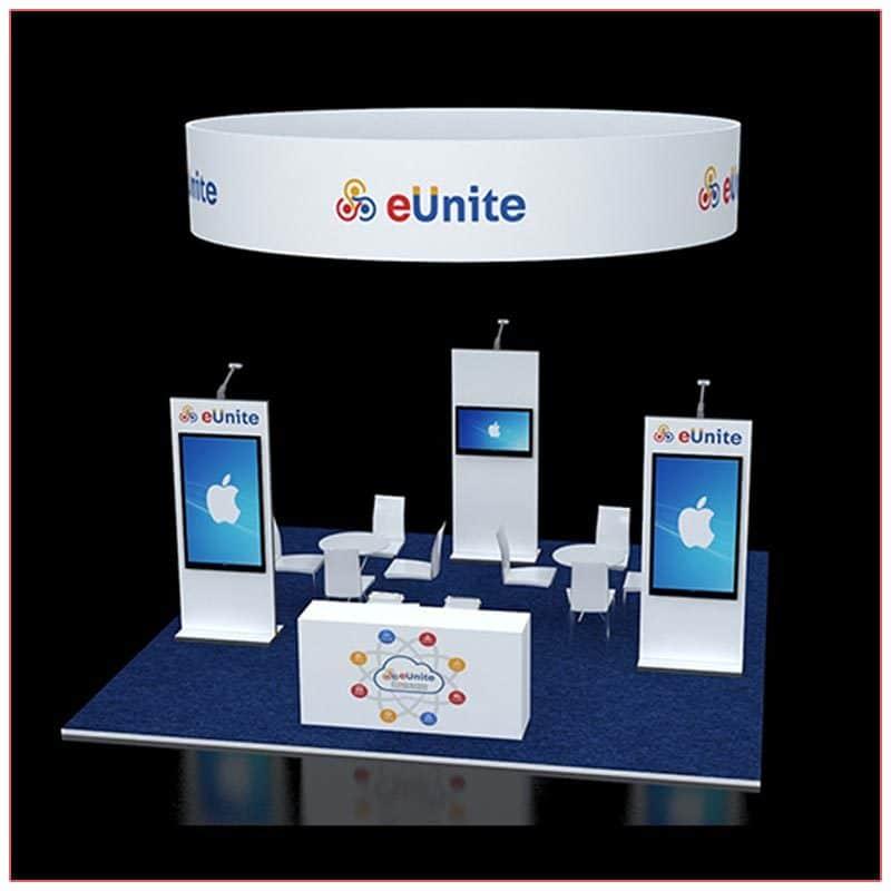 20x20 Trade Show Booth Rental Package 411 - LV Exhibit Rentals in Las Vegas
