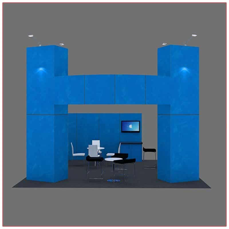 20x20 Trade Show Booth Rental Package 412 - Front View - LV Exhibit Rentals in Las Vegas