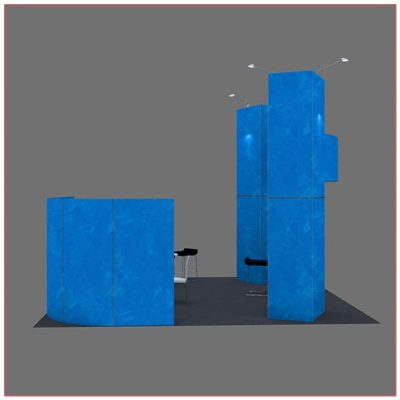 20x20 Trade Show Booth Rental Package 412 - Side View - LV Exhibit Rentals in Las Vegas