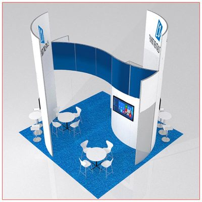 20x20 Trade Show Booth Rental Package 413 - LV Exhibit Rentals in Las Vegas