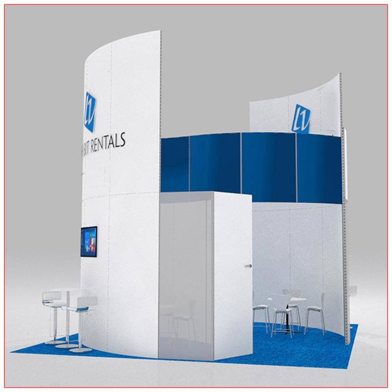 20x20 Trade Show Booth Rental Package 413 - Side View - LV Exhibit Rentals in Las Vegas