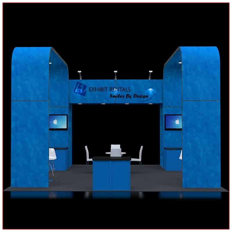 20x20 Trade Show Booth Rental Package 414 - Front View - LV Exhibit Rentals in Las Vegas
