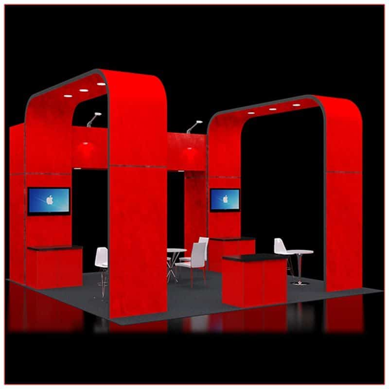 20x20 Trade Show Booth Rental Package 414 - LV Exhibit Rentals in Las Vegas
