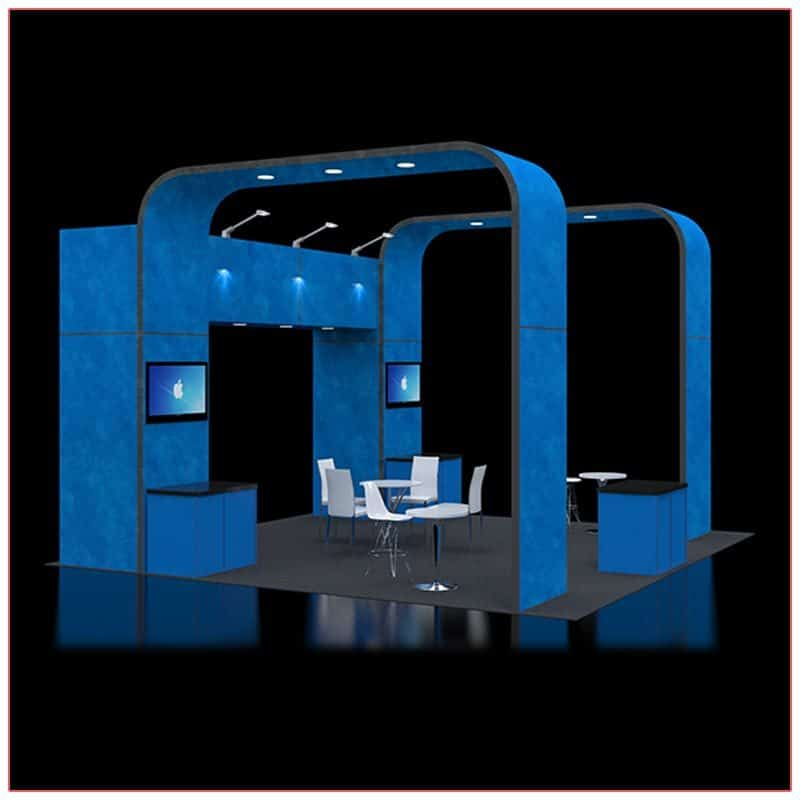 20x20 Trade Show Booth Rental Package 414 - Side Angle View2 - LV Exhibit Rentals in Las Vegas
