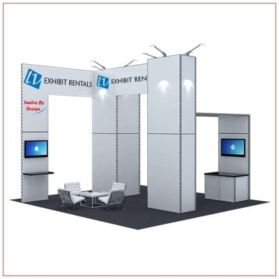 20x20 Trade Show Booth Rental Package 415 - LV Exhibit Rentals in Las Vegas