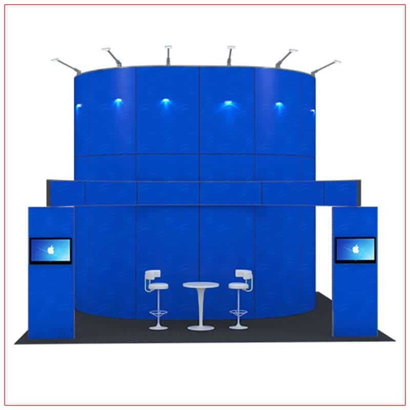 20x20 Trade Show Booth Rental Package 416 - Front View - LV Exhibit Rentals in Las Vegas