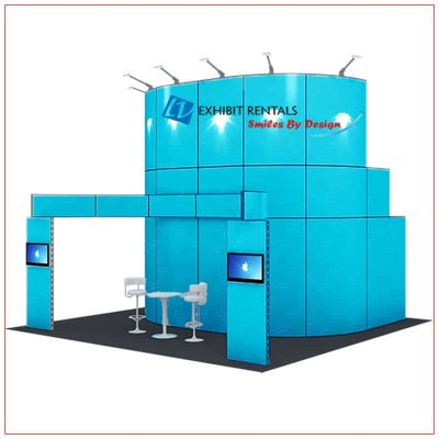 20x20 Trade Show Booth Rental Package 416 - LV Exhibit Rentals in Las Vegas
