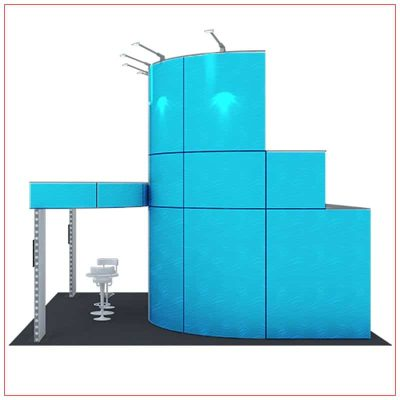 20x20 Trade Show Booth Rental Package 416 - Side View - LV Exhibit Rentals in Las Vegas