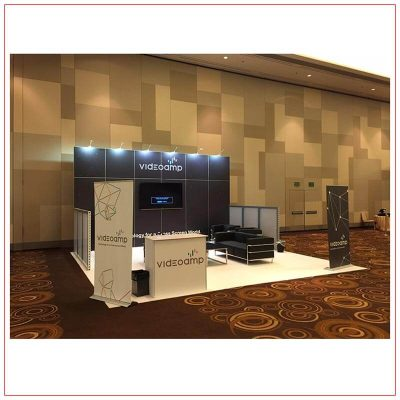 20x20 Trade Show Booth Rental Package 417 - Angle View - LV Exhibit Rentals in Las Vegas