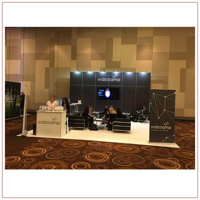20x20 Trade Show Booth Rental Package 417 - Front View2 - LV Exhibit Rentals in Las Vegas