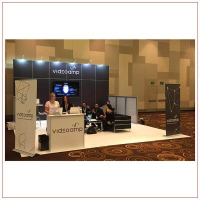 20x20 Trade Show Booth Rental Package 417 - LV Exhibit Rentals in Las Vegas