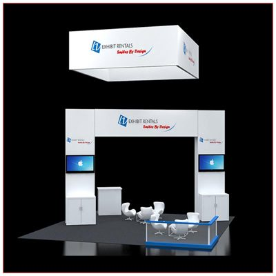 20x20 Trade Show Booth Rental Package 418 - LV Exhibit Rentals in Las Vegas