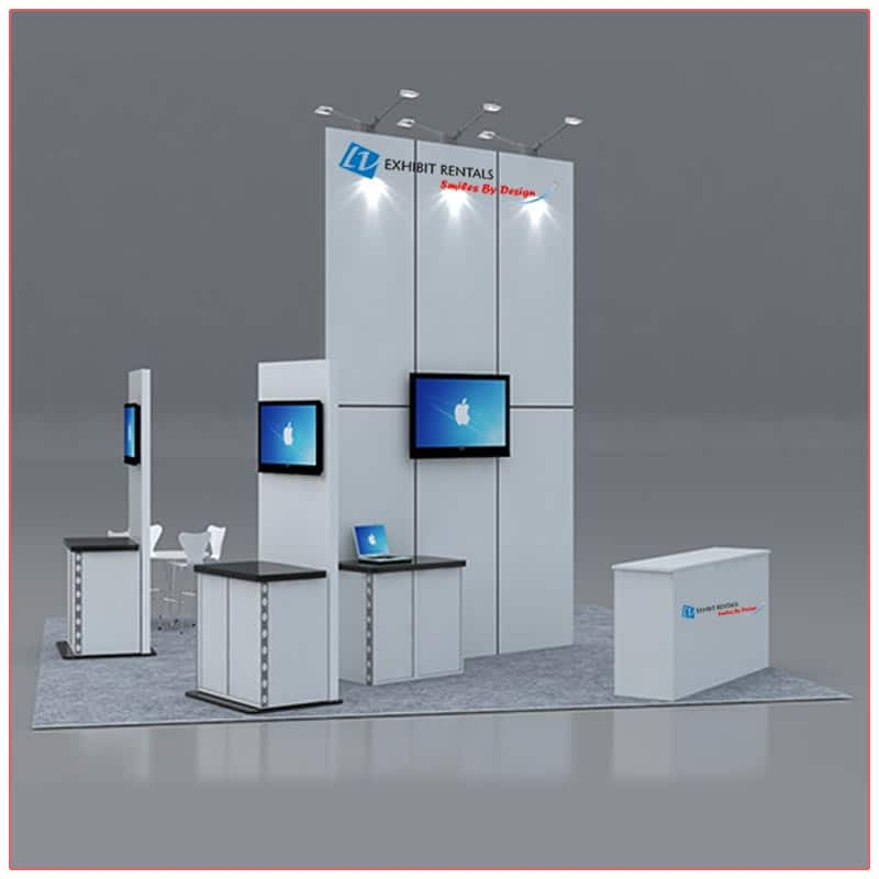 20x20 Trade Show Booth Rental Package 419 Front-- LV Exhibit Rentals in Las Vegas