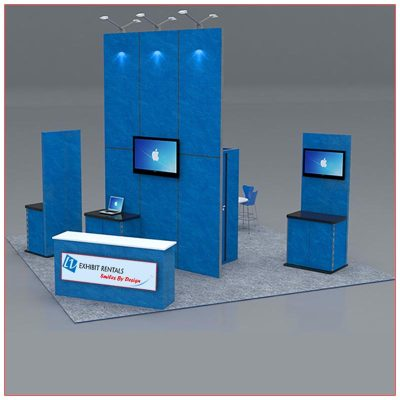 20x20 Trade Show Booth Rental Package 419 - LV Exhibit Rentals in Las Vegas