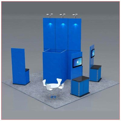 20x20 Trade Show Booth Rental Package 419 - Rear - LV Exhibit Rentals in Las Vegas