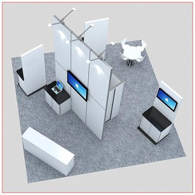 20x20 Trade Show Booth Rental Package 419 - Top-Down - LV Exhibit Rentals in Las Vegas