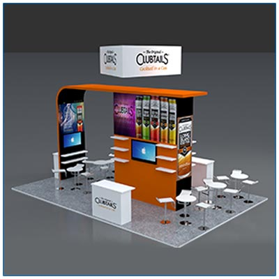 20x30 Trade Show Booth Rental Packages - LV Exhibit Rentals in Las Vegas