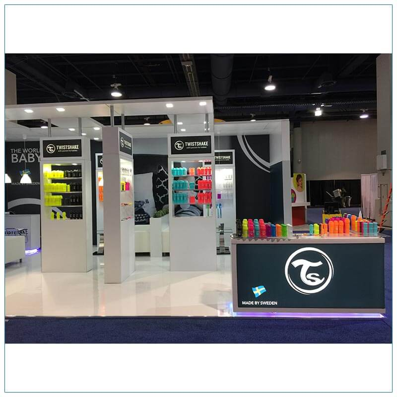 20x30 Trade Show Booth Rental Package 500 - Front - LV Exhibit Rentals in Las Vegas