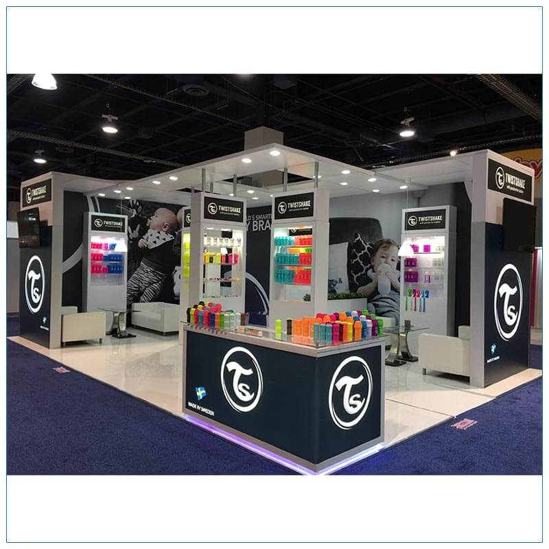 20x30 Trade Show Booth Rental Package 500 - LV Exhibit Rentals in Las Vegas