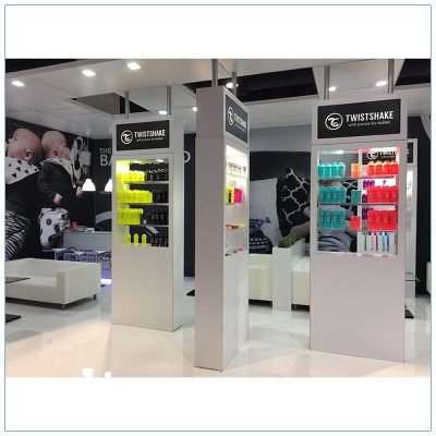 20x30 Trade Show Booth Rental Package 500 - Product Display - LV Exhibit Rentals in Las Vegas