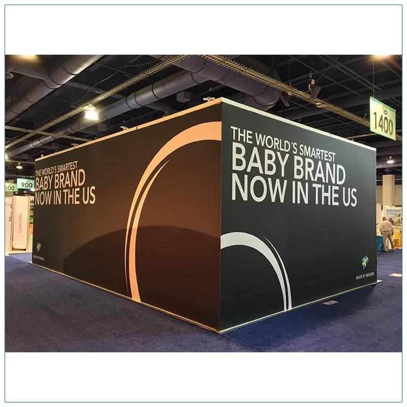 20x30 Trade Show Booth Rental Package 500 - Rear - LV Exhibit Rentals in Las Vegas