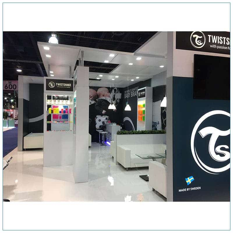 20x30 Trade Show Booth Rental Package 500 - Side View2 - LV Exhibit Rentals in Las Vegas