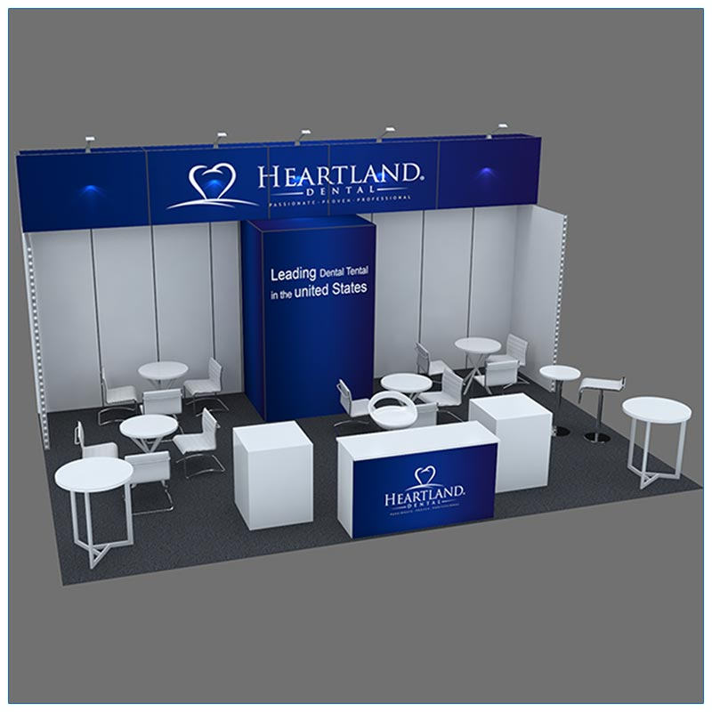 20x30 Trade Show Booth Rental Package 501 - Angle - LV Exhibit Rentals in Las Vegas