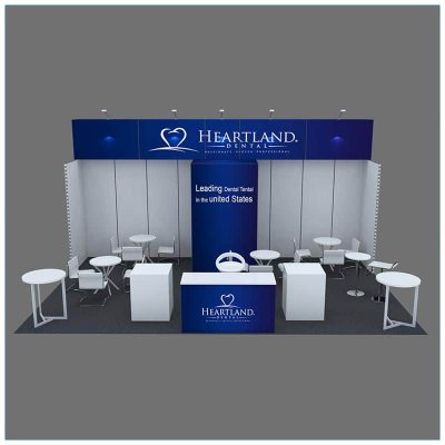 20x30 Trade Show Booth Rental Package 501 - Front - LV Exhibit Rentals in Las Vegas