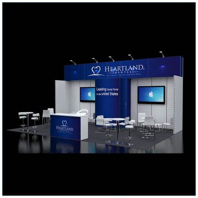 20x30 Trade Show Booth Rental Package 501 - LV Exhibit Rentals in Las Vegas