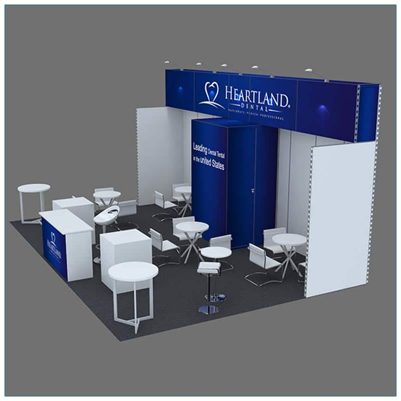 20x30 Trade Show Booth Rental Package 501 - Side - LV Exhibit Rentals in Las Vegas