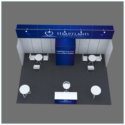 20x30 Trade Show Booth Rental Package 501 - Top-Down - LV Exhibit Rentals in Las Vegas