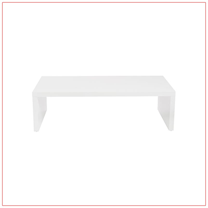 Abby Cocktail Tables - White - LV Exhibit Rentals in Las Vegas