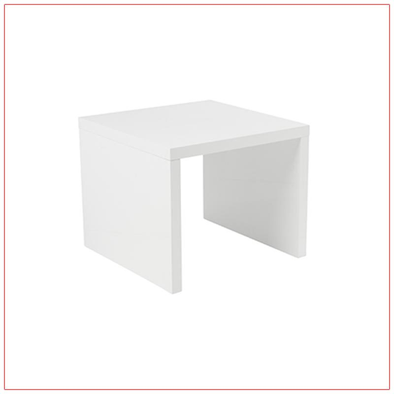 Abby End Tables - White - LV Exhibit Rentals in Las Vegas